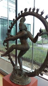 Shiva showed up dancing again, at the height of life chaos this summer, in one of the glass box galleries at the Cleveland Museum of Art.